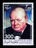 De Postzegel van Churchill van Winston Stock Fotografie