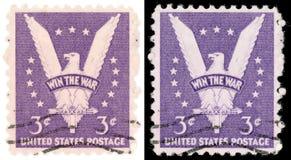De Postzegel van de 3 V.S. van de Cent Wint de Oorlog vanaf 1942 Stock Foto