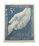 De Postzegel van de Verenigde Naties Stock Afbeeldingen