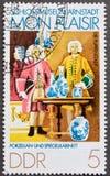 De Postzegel van Demokratische Republik van Deutsche royalty-vrije stock fotografie