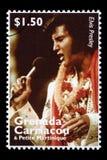 De Postzegel van Elvis Presley Royalty-vrije Stock Afbeeldingen
