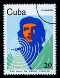 De Postzegel van Guevara van Che Stock Afbeelding