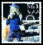 De Postzegel van Madonna Stock Afbeelding