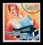 De Postzegel van Marilyn Monroe Stock Afbeeldingen