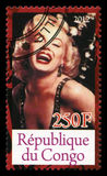 De Postzegel van Marilyn Monroe Stock Foto's