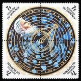 De postzegel van Nicholas Copernic Stock Fotografie