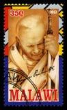 De Postzegel van pausjohannes paulus ii Royalty-vrije Stock Afbeelding