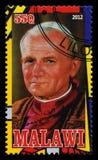 De Postzegel van pausjohannes paulus ii Stock Foto's