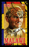 De Postzegel van pausjohannes paulus ii Stock Afbeelding