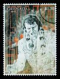 De Postzegel van Presely van Elvis Stock Afbeelding