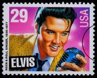 De Postzegel van Presely van Elvis Stock Foto