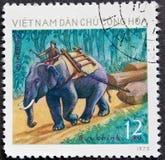 De Postzegel van Vietnam Royalty-vrije Stock Afbeeldingen