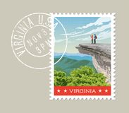 De postzegelontwerp van Virginia Vector illustratie Stock Afbeelding
