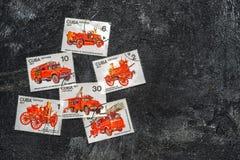 De Postzegels van de V Stock Afbeelding