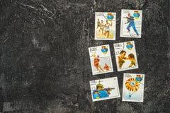 De Postzegels van de V Royalty-vrije Stock Foto's