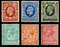 De Postzegels van Groot-Brittannië Stock Afbeelding