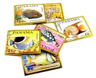 De postzegels van Panama Stock Foto