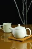 De Pot en de Kop van de thee Stock Foto