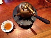 De pot en de kop van de thee Royalty-vrije Stock Afbeeldingen