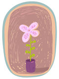 De pot van de bloem Royalty-vrije Stock Foto