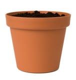 De pot van de bloem met grond royalty-vrije stock foto's