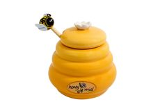 De pot van de honing Stock Foto