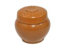 De pot van de klei. Geïsoleerdn. Stock Afbeelding