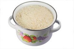 De pot van de rijst Stock Fotografie