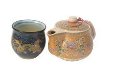 De pot van de thee en theekop Royalty-vrije Stock Afbeelding