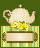 De pot van de thee met mooie bloemen Royalty-vrije Stock Foto