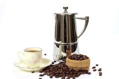 De pot van Mocha, koffie Royalty-vrije Stock Foto's