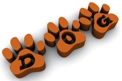 De poten van de hond Stock Afbeelding