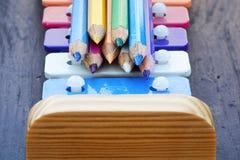 De potloden en de klokken van de school Royalty-vrije Stock Afbeelding