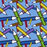 De potloden naadloze textuur van de kleur. Royalty-vrije Stock Afbeeldingen
