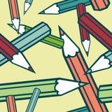 De potloden naadloze textuur van de kleur. Stock Foto's