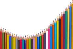 De potloden tonen abstract succes met grafiek Royalty-vrije Stock Foto's