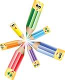De potloden van de cirkel Stock Fotografie