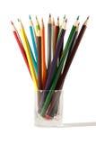 De potloden van de groep die op het wit worden geïsoleerdu Royalty-vrije Stock Afbeeldingen