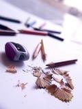 De potloden van de kleur. Stock Afbeeldingen
