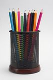 De potloden van de kleur Stock Afbeeldingen