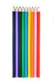 De potloden van de kleur die op wit worden geïsoleerde Royalty-vrije Stock Foto