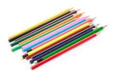 De potloden van de kleur die op wit worden geïsoleerdn Royalty-vrije Stock Foto