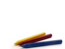De potloden van de kleur die op witte achtergrond worden geïsoleerdu Stock Afbeelding