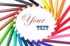 De potloden van de kleur Kader Sluit omhoog Stock Afbeelding