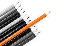 De potloden van de kleur op wit stock foto's