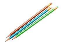 De potloden van de kleur op wit Stock Afbeelding