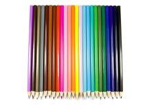 De potloden van de kleur op witte achtergrond Royalty-vrije Stock Afbeelding
