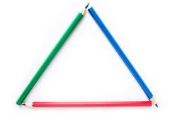 De potloden van de kleur op witte achtergrond Stock Fotografie
