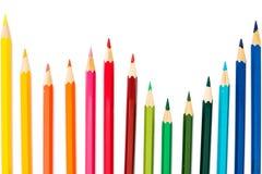 De potloden van de kleur op witte achtergrond Royalty-vrije Stock Afbeeldingen