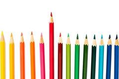 De potloden van de kleur op witte achtergrond Stock Afbeelding